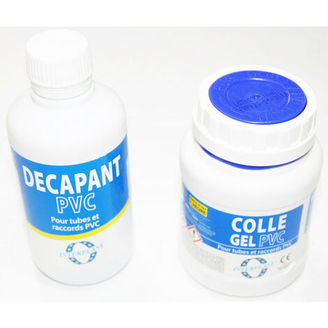 Lot de 1 Colle 250 ML et 1 décapante 250 ML PVC Piscine