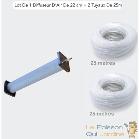 Lot De 1 Diffuseur D'Air, 22 cm De Longueur + 2 Tuyaux 25 m