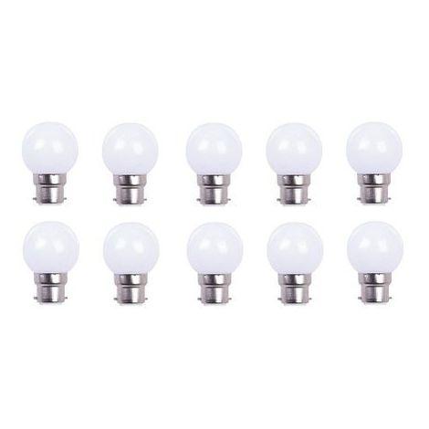 LOT DE 10 AMPOULES - COULEUR LED BLANCHE B22