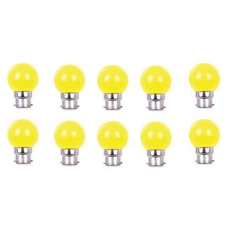 LOT DE 10 AMPOULES - COULEUR LED JAUNE B22