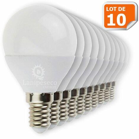"main image of ""Lot de 10 Ampoules E14 Mini Globe 6W eq. 40W 480 lumens Blanc neutre 4000K"""