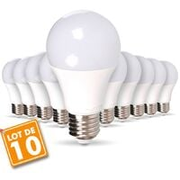 Lot de 10 Ampoules E27 11W Eq 75W Blanc Chaud
