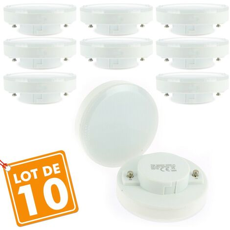 Lot de 10 Ampoules GX53 7W eq 50W