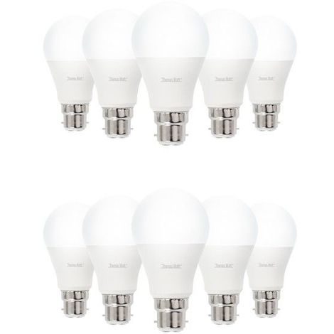 Lot de 10 ampoules led B22 9 watt (eq. 60 watt)