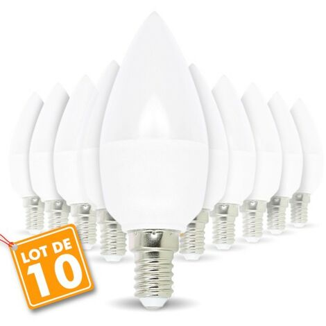 """main image of """"Lot de 10 ampoules LED E14 5.5W eq 40W"""""""