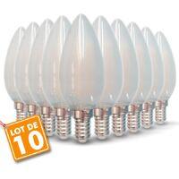 Lot de 10 Ampoules LED E14 opaque 4W eq 40W 470lm