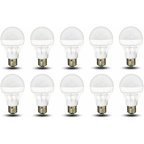 lot de 10 ampoules led e27 forme mini globe 5w blanc chaud 400 lumens