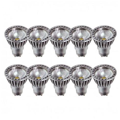 Lot de 10 AMPOULES LED GU10 4W 2700k