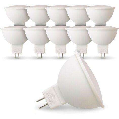 Lot de 10 Ampoules LED GU5.3 MR16 5W Eq 40W
