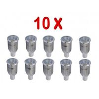 LOT DE 10 AMPOULES LED MR16 10W 220V