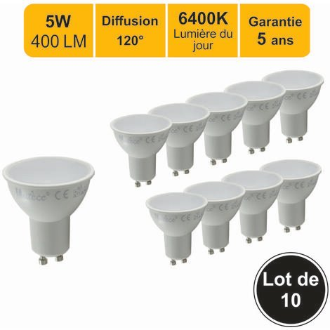 Lot de 10 ampoules LED spot GU10