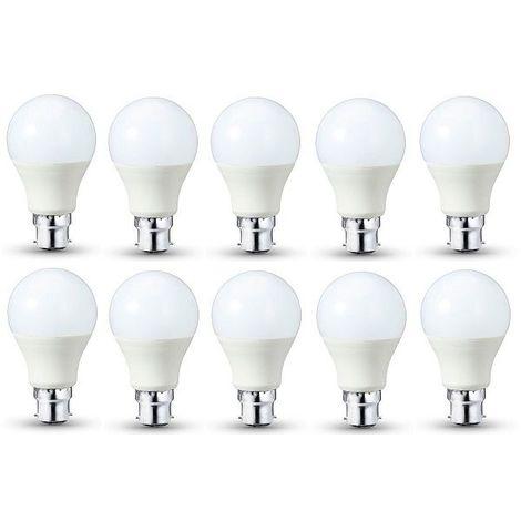 Lot De 10 Ampoules LED Standard (A60) 11W B22 - 1055 LUMENS - Lumiere Du Jour (Blanc Froid) 6000K