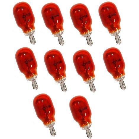 Lot de 10 Ampoules WY16W T15 12V 16W Ambré Orange
