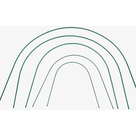 Lot de 10 arceaux rigides plastifiés pour tunnel