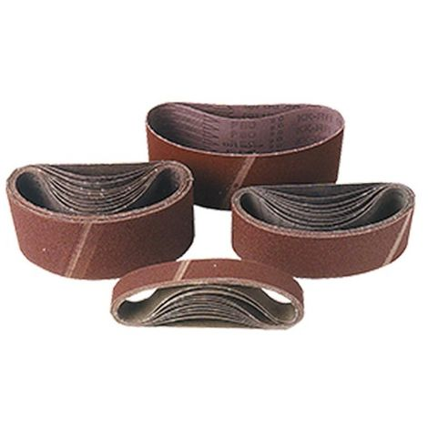 Lot de 10 bandes toile pour machine portative 9 x 533 mm Gr. 120 pour bois et métal - 09.533.120 - Leman