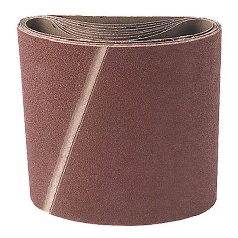 Lot de 10 bandes toile pour parquet corindon L. 200 x H. 750 mm Gr. 120 - 200.750.120 - Leman