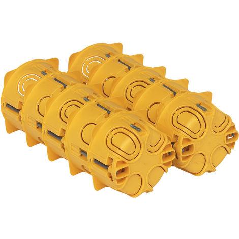 Lot de 10 boîtes à encastrer 1 poste Batibox plaque de plâtre