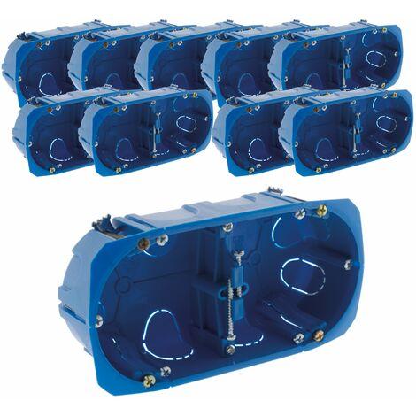 Lot de 10 boîtes encastrement doubles MULTIMAT patte métal 67x 40 entraxe 71 - BLM