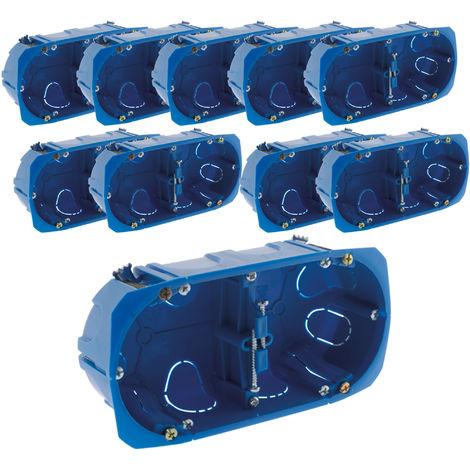 Lot de 10 boîtes encastrement MULTIMAT patte métal Ø67mm x 40mm - BLM