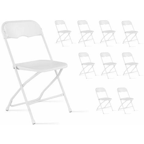 Lot De 10 Chaises Pliantes