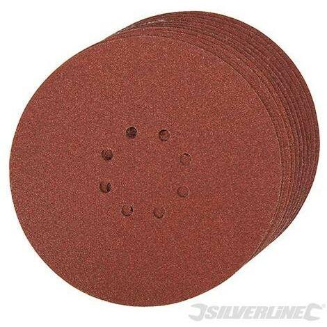 "main image of ""10 disques abrasifs perforés auto-agrippants 225 mm Silverline"""