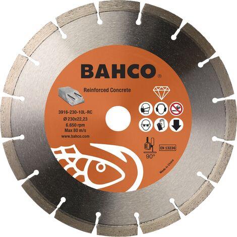 Lot de 10 disques diamant professionnel pour béton armé Bahco 3916-230-10L-RC