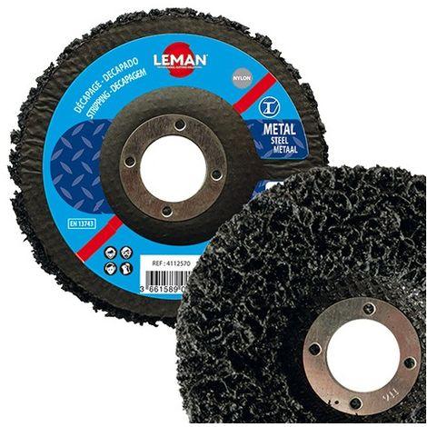 Lot de 10 disques nylon bombés pour bois et métal - D. 125 x Al. 22,23 x Ep. 15 mm - 4112570 - Leman - -