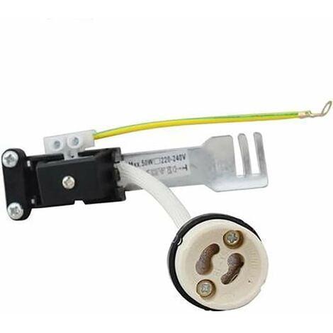Lot de 10 Douilles GU10 220V céramique isolée 250° avec connecteur