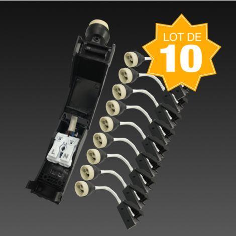 Lot de 10 Douilles GU10 Céramique Automatique 230V classe 2
