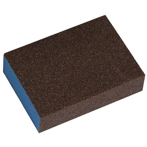 Lot de 10 éponges abrasives 69 x 98 x 26 mm 4 faces Gr. 60 pour bois et métal - 9870060 - Leman - -