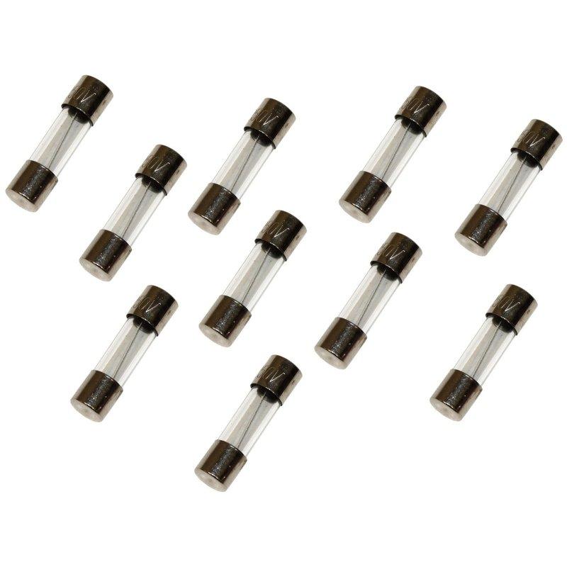10 Fusibles en Verre 5 x 20 mm Standart Puissance 10 Ampéres