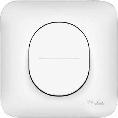 """main image of """"Lot de 10 Interrupteur Va et vient 10A + plaque Schneider Ovalis blanc S260204"""""""