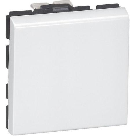 "main image of ""Lot de 10 Interrupteurs ou va-et-vients 10AX 250V~ Mosaic 2 modules - blanc - Legrand"""