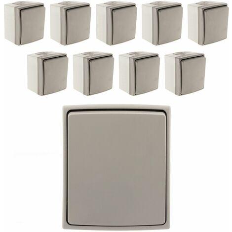 Lot de 10 Interrupteurs Va & Vient IP55 - Orok