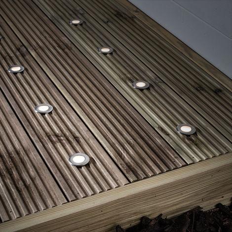 Lot de 10 Lampes Spots LED Encastrables pour Terrasse avec Détecteur Automatique Lights4fun