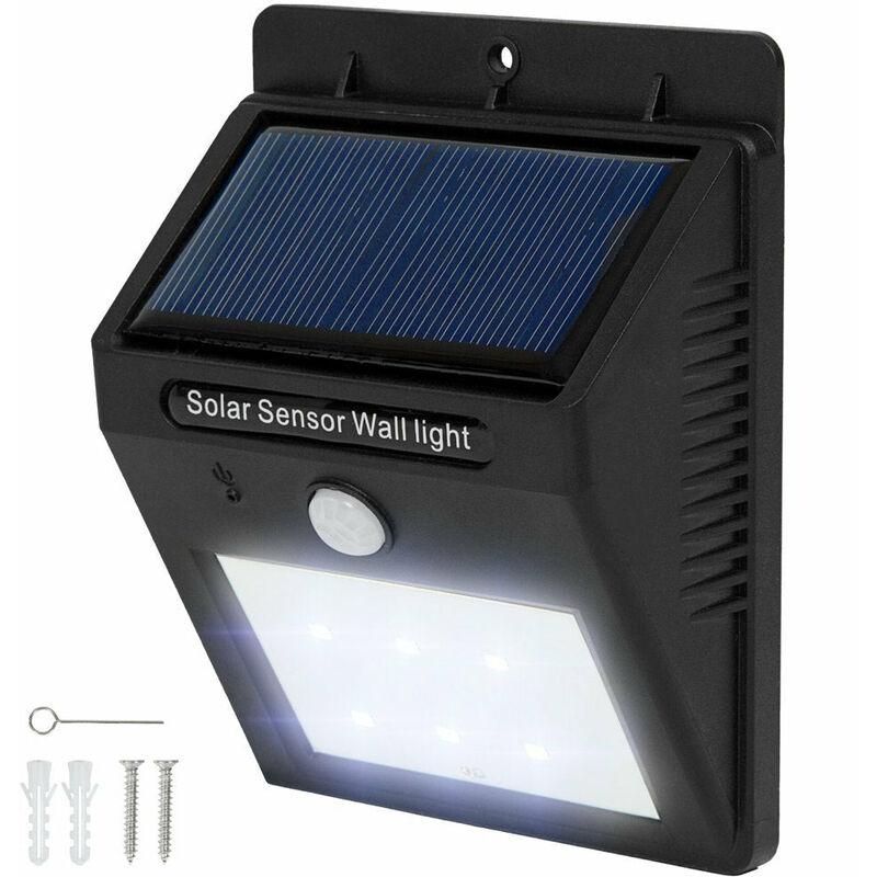 Détecteur Noir Mouvement 10 Lampe Led Avec Leds Solaire 6 Lumière Lot De Sc45qAjL3R