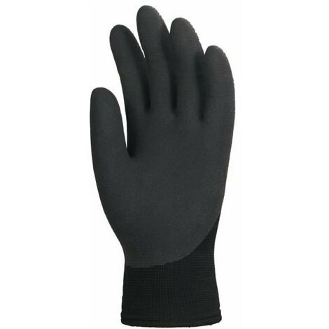 Lot de 10 paires de gants EUROWINTER enduit latex noir, dos aéré Coverguard