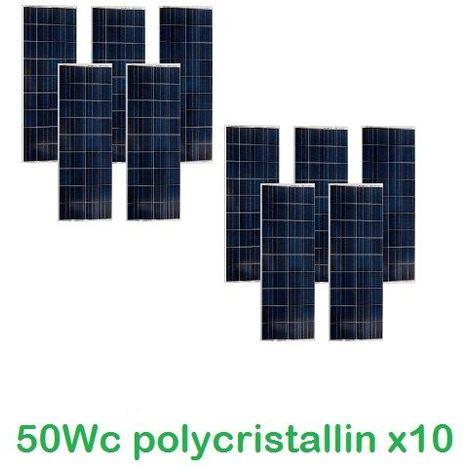 Lot de 10 Panneaux Photovoltaïques VICTRON 50Wc 12V Polycristallins