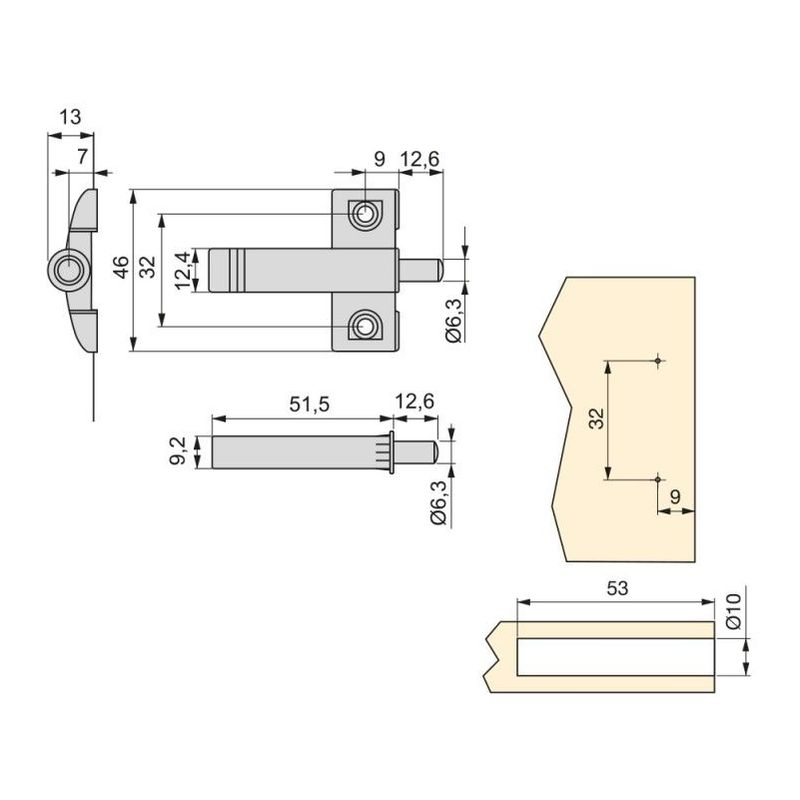 Douille /à choc BE-TOOL 1//2 8-32 mm 6 points /à douille universelle pour cl/é /à choc /électrique noir lot de 1