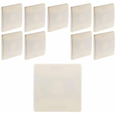 Lot de 10 plaques cache boîtes 75x 75 vis + griffes Diwone Blanc - Diwone