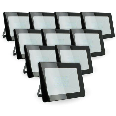 Lot de 10 Projecteurs 100w Forte luminosité 8500 Lumens de IP65