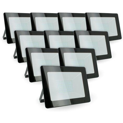 Lot de 10 projecteurs 50W IP65 extérieur