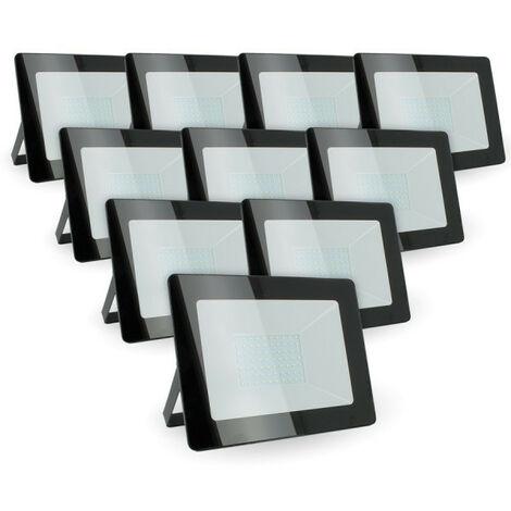 """main image of """"Lot de 10 Projecteurs LED 100w Forte luminosité 8500 Lumens de IP65"""""""