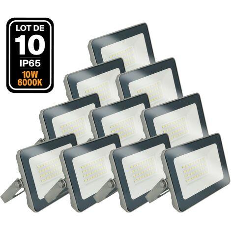 Lot de 10 Projecteurs LED 10W Classic 6000K Haute Luminosité