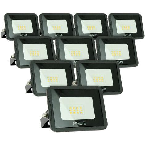 Lot de 10 projecteurs LED 10W IP65 extérieur