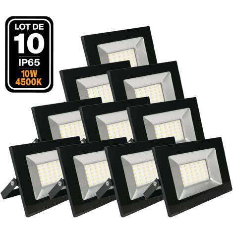 Lot de 10 Projecteurs Led 10W Ipad 4500k Haute Luminosité