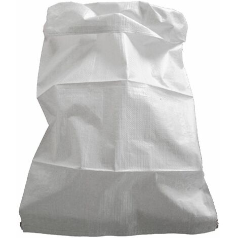 Lot de 10 sacs à gravats blancs 75 Litres - Fond cousu sans sangle