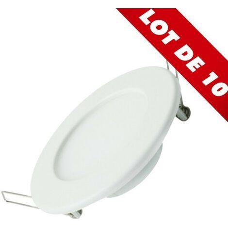 Lot de 10 Spot Encastrable LED Panel Extra-Plat 12W