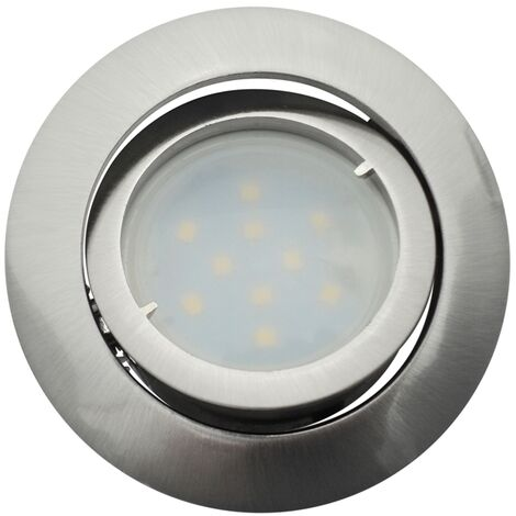 Lot de 10 Spot Led Encastrable Complete Satin Orientable lumière Blanc Chaud eq. 50W ref.209