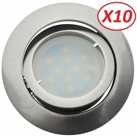 Led 10 Ref Satin 895 Complete Orientable De Neutre Spot Lot Eq50w Lumière Blanc Encastrable u15lFKc3TJ